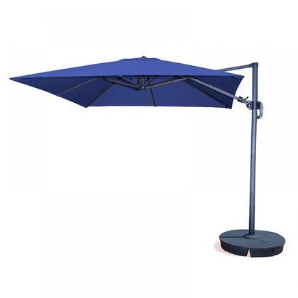 Island Umbrella NU60 Santorini II 10-ft Square Cantilever Umbrella in