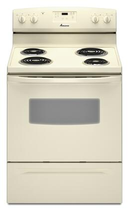 Amana AER5523XAQ  Electric Freestanding Range with Coil Element Cooktop, 4.8 cu. ft. Primary Oven Capacity, Storage in Bisque