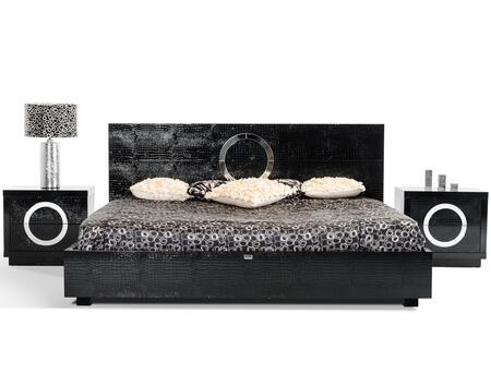 VIG Furniture VGUNAW223180BLKEKV2N A & X Ovidius E King Bedr