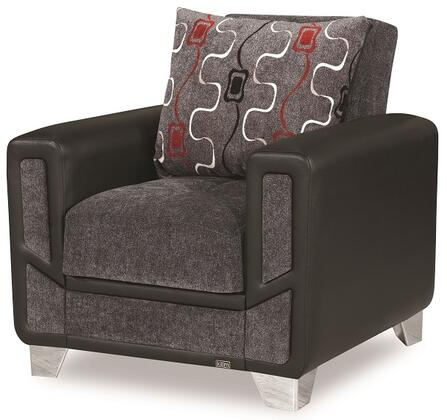 """Casamode Mondo Modern Collection MONDO MODERN ARM CHAIR 38"""" Convertible Arm Chair with Chenille Fabric Upholstery, Track Arms and Under Seat Storage in"""