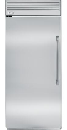 "GE Monogram ZIFP360NX 36"" Built-In All Freezer with 21.5 cu. ft. Capacity, Concealed Halogen Lighting System, Ice Drawer and Water Filtration System in Stainless Steel"