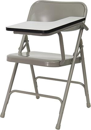 Flash Furniture HF-309AST-XX-GG Premium Steel Folding Chair with Tablet Arm, Double Support Cross Rails, and High Pressure Laminate Gray Surface with Black Edge Band