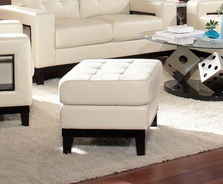 Coaster 504424 Paige Series Contemporary Bonded Leather Ottoman