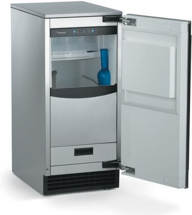 "Scotsman SCCG50MA-1Sx 15"" Brilliance Ice Machine with Gravity Drain, 65 lbs. Daily Ice Production, 26 lbs. Storage Capacity, Clear Odorless Ice, and Self-closing Door, in"
