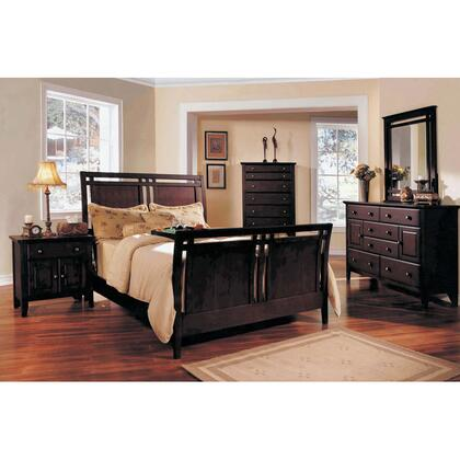 Yuan Tai GV3500QCHSET Giovanna Series 5 Piece Bedroom Set