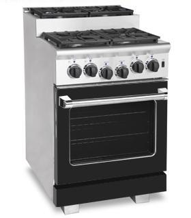 American Range ARR244SBK Titan Series Gas Freestanding Range with Sealed Burner Cooktop, 3.71 cu. ft. Primary Oven Capacity, in Black