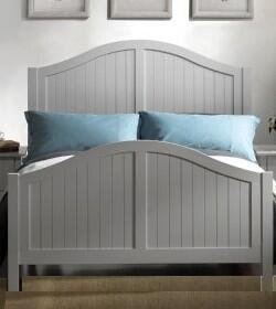 Yuan Tai AV1378 Avalon Panel Bed in White Finish