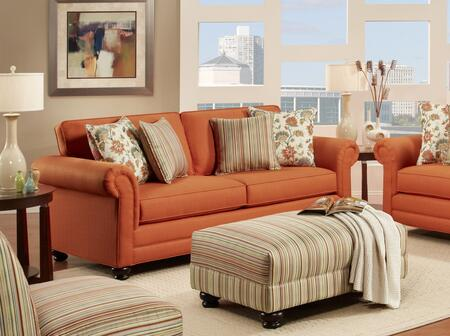 Chelsea Home Furniture 63223903 Trieste Sofa with 8.5 Gauge Medium Loop Sinuous Wire Seat Springs, Toss Pillows, High Density Urethane Foam Cushions and Hardwoods in