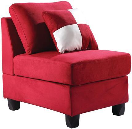 Glory Furniture G636AC Suede  in Red