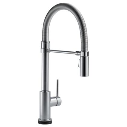 Trinsic  9659T-AR-DST Delta Trinsic: Single Handle Pull-Down Spring Spout Kitchen Faucet with Touch2O Technology in Arctic Stainless