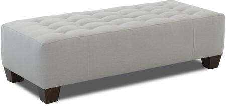 "Klaussner Wayne Manor Collection 460-OTTOC- 62"" Ottoman with Tufted Top, Tapered Legs and Block Feet in"