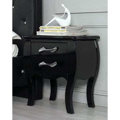 VIG Furniture VGKCMONTENSBLK Monte Carlo Series  Wood Night Stand