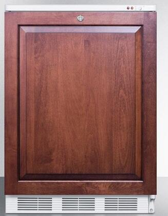 """Summit VT65MLBII 24"""" Medically Approved Upright Freezer with 3.5 cu. ft. Capacity, Factory Installed Lock, Three Slide Out Drawers, Adjustable Thermostat and Integrated Door Frame:"""
