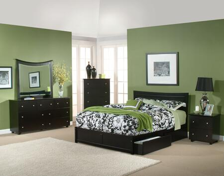 Atlantic Furniture METFPWHTW  Twin Size Bed