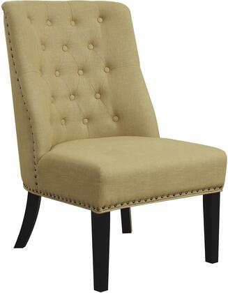 Coaster 902497 Accent Seating Series Armless Fabric Wood Frame Accent Chair