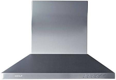 Wolf CTWH3X Wall Mounted Chimney Hood with Heat Sentry, Dishwasher-safe Mesh Filter, Filter Clean Reminder, Delay Off, and Halogen Lighting, in Stainless Steel