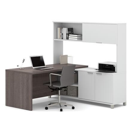 Bestar Furniture 120884 Pro-Linea L-Desk with hutch