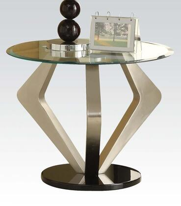 Acme Furniture 80002 Niki Series Contemporary Metal Round End Table