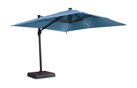 "Signature Design by Ashley Oakengrove Collection P017-99X 106"" Large Cantilever Umbrella with Solar Powered LED Lights with On-Off Switch, Nuvella Solution Dyed Fabric and 360 Degree Motion in"