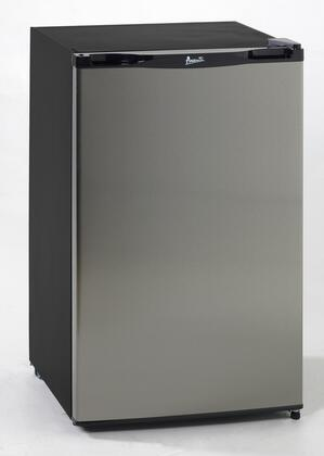 Avanti RM4123SS  Freestanding Compact Refrigerator with 4.1 cu. ft. Capacity, 2 Glass ShelvesField Reversible Doors