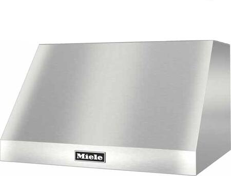 Miele DAR12 Wall Mounted Canopy Hood with Temperature Sensor, Dishwasher-safe Stainless Steel Baffle Filters, LED Lighting, and Knob Controls, in Stainless Steel