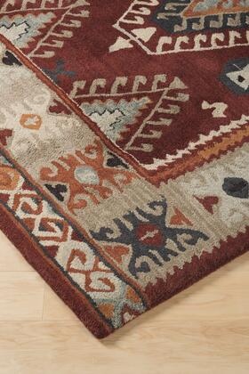 Signature Design by Ashley Oisin R40133 Size Rug with Wool Material and Machine Washable in Brick Color