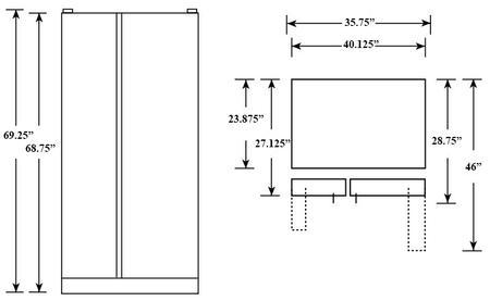 Ge Profile Pzs23kpewv 36 Inch Counter Depth Side By Side
