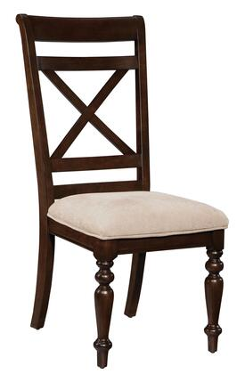 Standard Furniture 14024 Java Series Traditional Fabric Wood Frame Dining Room Chair