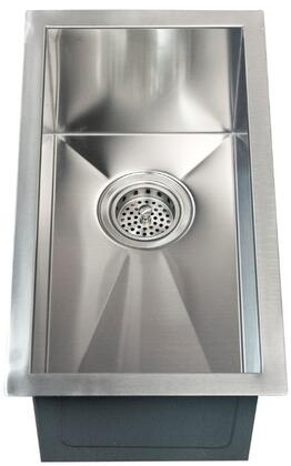 """Barclay PSSSB20 Ophelia X"""" Narrow Undermount Prep Sink with Solid 16 Gauge, 304 Grade Metal Construction, Zero Radius Corners and a Narrow Space Saving Design: Matte Stainless Steel Finish"""