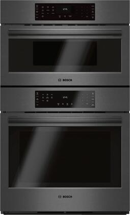 Bosch Hbl8742uc 800 Series 30 Inch Black Stainless Steel Electric Double Wall Convection Oven Microwave Combo