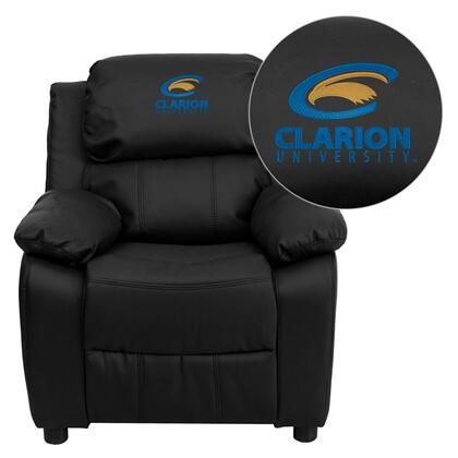 Flash Furniture BT7985KIDBKLEA41018EMBGG Childrens Bonded Leather Wood Frame  Recliners