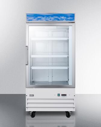 "Summit SCFU1210 26.75"" 9 cu. ft. Commercial Display Freezer"
