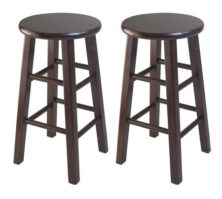 Winsome 9426X Set of 2 Square Leg Stools