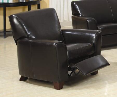 Coaster 504013 Quince Series Leather with Webbed Back and Spring Seat Frame in Brown
