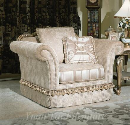 Yuan Tai JA7000C Jacqueline Series Fabric Love Seat with Wood Frame