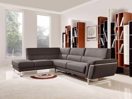 VIG Furniture VGMB1612 Divani Casa Navarro Series Stationary Fabric Sofa