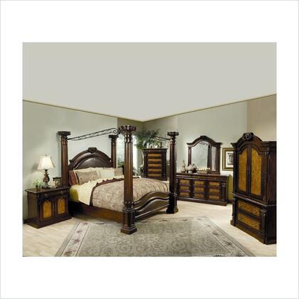 Coaster 201201Q Montecito Series  Queen Size Canopy Bed