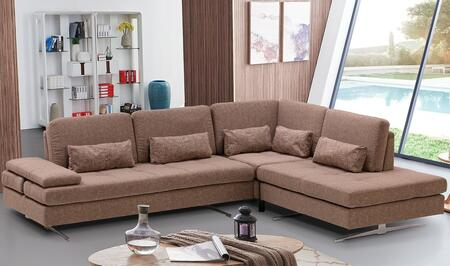 ESF Colombo Collection I17726I17727 Sectional in Brown