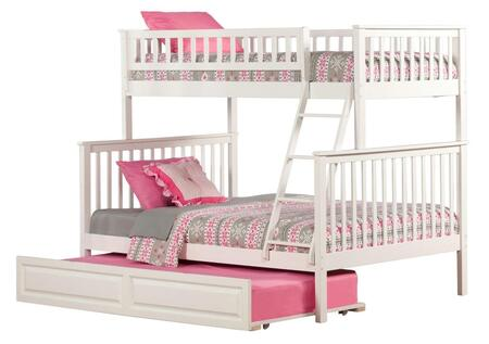 Atlantic Furniture AB5623 Woodland Bunk Bed Twin Over Full With Raised Panel Trundle
