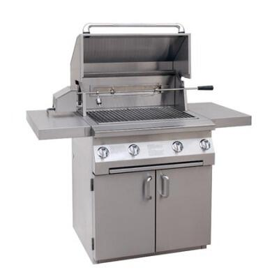 Solaire SOLAGBQ30CIRLP All Refrigerator Grill, in Stainless Steel