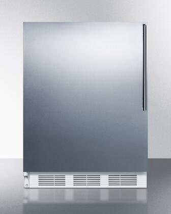 """AccuCold ALF620SSHVX 24"""" ADA Compliant Freestanding Medical All-Freezer with 3.2 cu. ft. Capacity, Manual Defrost, 3 Drawer Bins, and Adjustable Thermostat: Stainless Steel"""