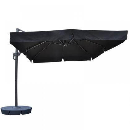 Island Umbrella NU61 Santorini II 10-ft Square Cantilever Umbrella w/ Valance in