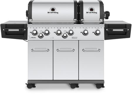 Broil King 95734x REGAL  XLS PRO Gas Grill with 6 Burners, 60000 BTU Main Burner Output, 750 sq. in. Cooking Area, 10000 BTU Side Burner, 15000 BTU Rotisserie Burner, in Stainless Steel