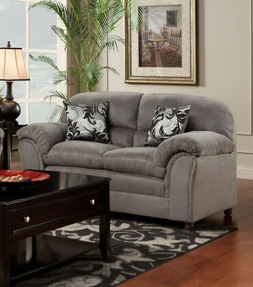 Chelsea Home Furniture 471250LVLD Joyce Series Polyester Stationary with Wood Frame Loveseat