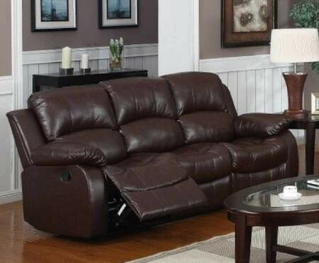 Yuan Tai 1070SBRN Kaden Series Reclining Bonded Leather Sofa |Appliances Conncetion
