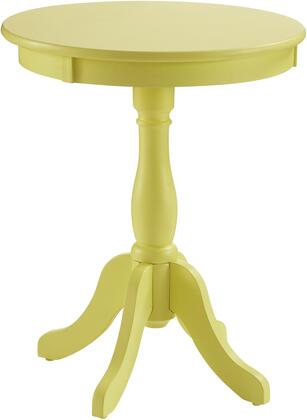 Powell Palmetto Collection 352 Round Table with Ample Storage Space, Bentwood Skirt and Saber Cabriolet Tapered Legs in
