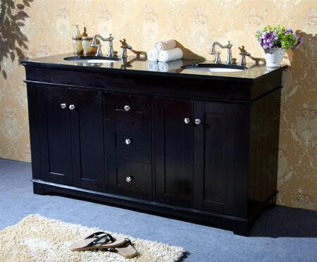 Legion Furniture WLF6018-XX-61 61in. Granite, Backsplash and Cupc Sink
