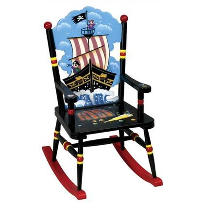 Guidecraft G83408 Pirate Series Armless  Wood Frame Not Upholstered Rocking Chair