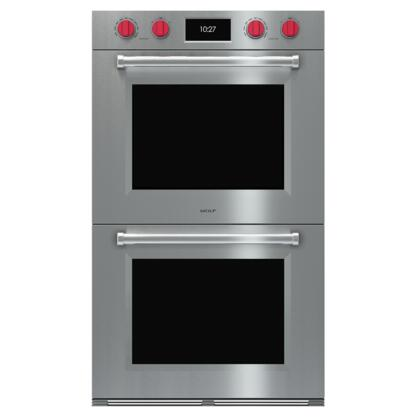 "Wolf xO30PMSPH 30"" M Series Professional Wall Oven with Advanced Dual VertiCross Convection, Ten Cooking Modes, and Interactive Color Touchscreen Controls, in Stainless Steel"