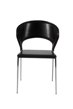 Euro Style 02472BLK Moira Series  Dining Room Chair